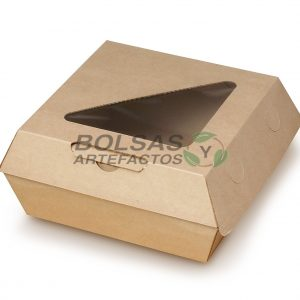Caja Almeja para comida con Ventana 5.5 X 5.5 Pulgadas