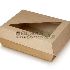 Caja Almeja para comida con Ventana 8 X 6 Pulgadas